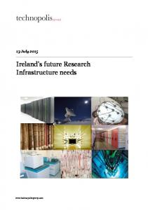 Ireland s future Research Infrastructure needs