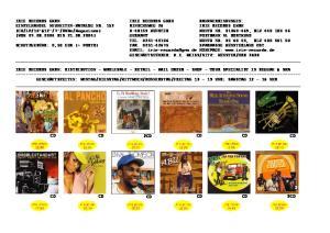 IRIE RECORDS GMBH IRIE RECORDS GMBH BANKVERBINDUNGEN: EINZELHANDEL NEUHEITEN-KATALOG NR. 152 RINSCHEWEG 26 IRIE RECORDS GMBH