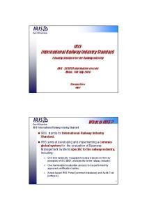 IRIS International Railway Industry Standard