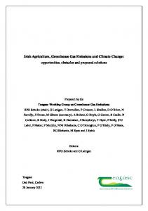 Irish Agriculture, Greenhouse Gas Emissions and Climate Change: opportunities, obstacles and proposed solutions