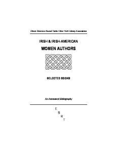 IRISH & IRISH-AMERICAN WOMEN AUTHORS