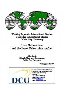 Irish Nationalism and the Israel-Palestinian conflict