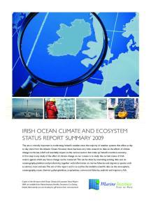 IRISH OCEAN CLIMATE AND ECOSYSTEM STATUS REPORT SUMMARY 2009