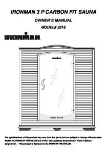 IRONMAN 3 P CARBON FIT SAUNA