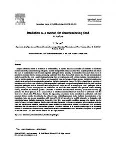 Irradiation as a method for decontaminating food A review