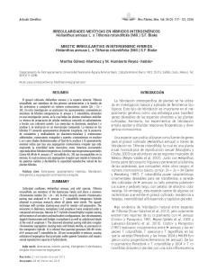 IRREGULARIDADES MEIÓTICAS EN HÍBRIDOS INTERGENÉRICOS Helianthus annuus L. x Tithonia rotundifolia (Mill.) S.F. Blake