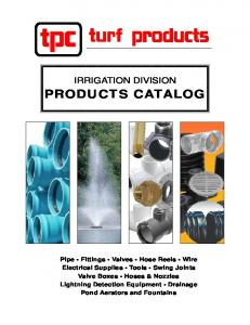 IRRIGATION DIVISION PRODUCTS CATALOG
