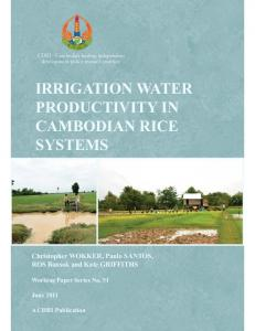 IRRIGATION WATER PRODUCTIVITY IN CAMBODIAN RICE SYSTEMS