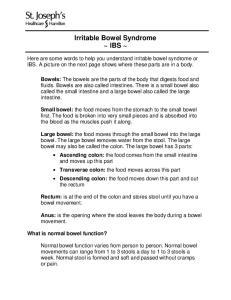 Irritable Bowel Syndrome ~ IBS ~