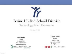 Irvine Unified School District Technology Bond Discussion