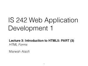 IS 242 Web Application Development 1