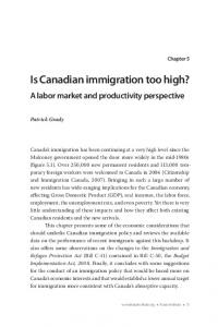 Is Canadian immigration too high?