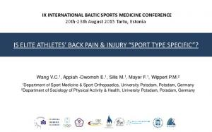IS ELITE ATHLETES BACK PAIN & INJURY SPORT TYPE SPECIFIC?