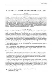 IS ENTROPY FAR FROM EQUILIBRIUM A STATE FUNCTION?