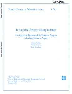 Is Extreme Poverty Going to End?
