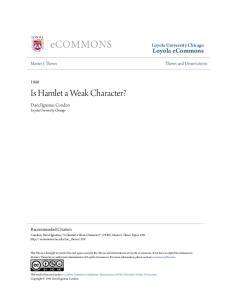 Is Hamlet a Weak Character?