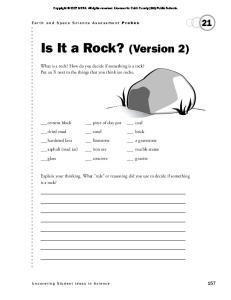 Is It a Rock? (Version 2)