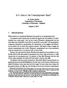 Is It Jobs or the Unemployment Rate?