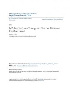 Is Pulse-Dye Laser Therapy An Effective Treatment For Burn Scars?