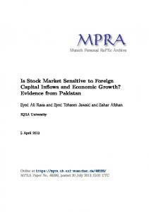 Is Stock Market Sensitive to Foreign Capital Inflows and Economic Growth? Evidence from Pakistan