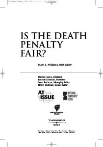 Is the Death Penalty Fair?