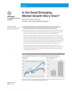 Is the Great Emerging Market Growth Story Over?