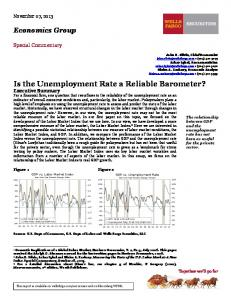 Is the Unemployment Rate a Reliable Barometer?