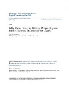 Is the Use of Honey an Effective Dressing Option for the Treatment of Diabetic Foot Ulcers?