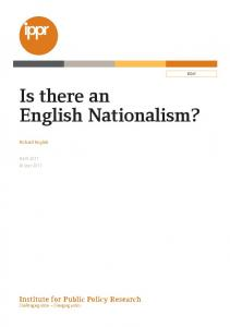 Is there an English Nationalism?