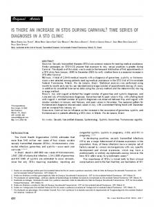 is there an increase in stds during carnival? time series of diagnoses in a std clinic