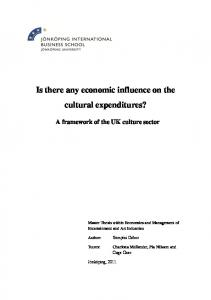 Is there any economic influence on the cultural expenditures?