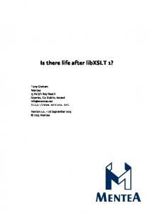 Is there life after libxslt 1?