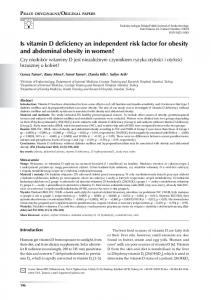 Is vitamin D deficiency an independent risk factor for obesity and abdominal obesity in women?