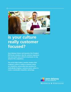 is your culture really customer focused?