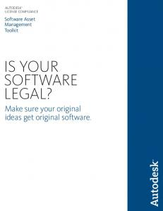 IS YOUR SOFTWARE LEGAL?