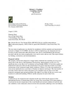 ISA Certified Arborist PN-6545A PO Box ISA Tree Risk Assessment Qualified Lake Forest Park, WA WA. Business #