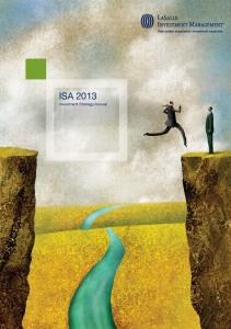 ISA Investment Strategy Annual