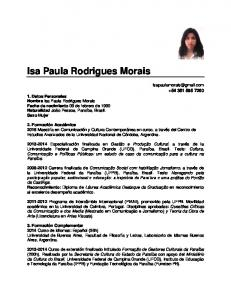 Isa Paula Rodrigues Morais
