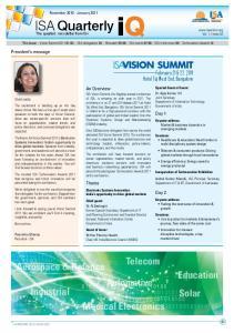 ISA Quarterly iq. Telecom Aerospace & Defence. Education. Automotive. Industrial. Solar. Medical Electronics