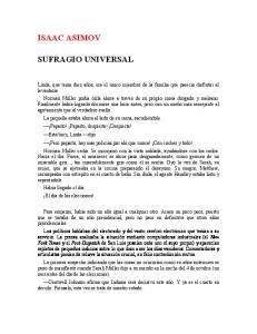 ISAAC ASIMOV SUFRAGIO UNIVERSAL