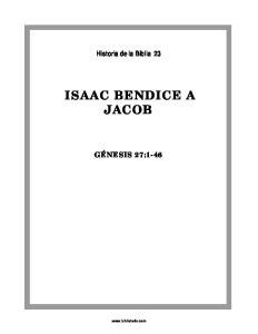 ISAAC BENDICE A JACOB