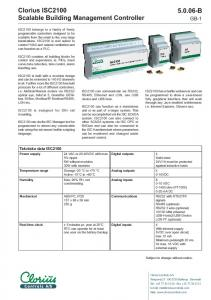 ISC2100 can communicate via RS232, RS485, Ethernet and LON, use USB device and USB host