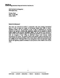 ISDA International Swaps and Derivatives Association, Inc