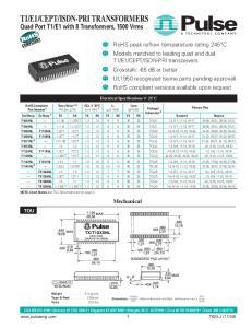 ISDN-PRI TRANSFORMERS