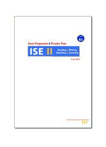 ISE II Reading & Writing