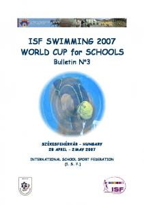 ISF SWIMMING 2007 WORLD CUP for SCHOOLS