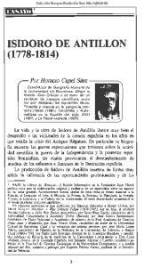 ISIDORO DE ANTILLON ( )