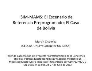 ISIM MAMS: El Escenario de Referencia Preprogramado; El Caso de Bolivia