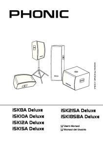 isk8a Deluxe isk10a Deluxe isk12a Deluxe isk15a Deluxe isk215a Deluxe isk18sba Deluxe User's Manual Manual del Usuario