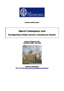 Islam in Contemporary Aceh